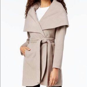 T Tahari Belted wrap Coat